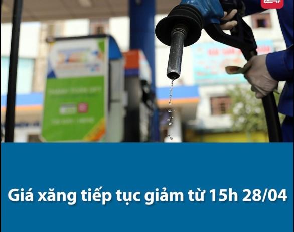 Giá xăng giảm